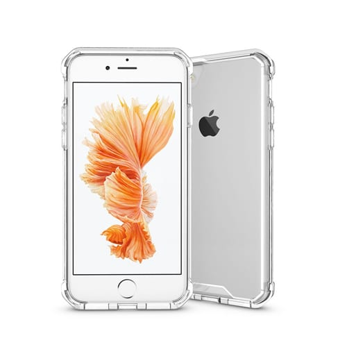 Armored Silicon case iPhone 6 - 6S plus clear