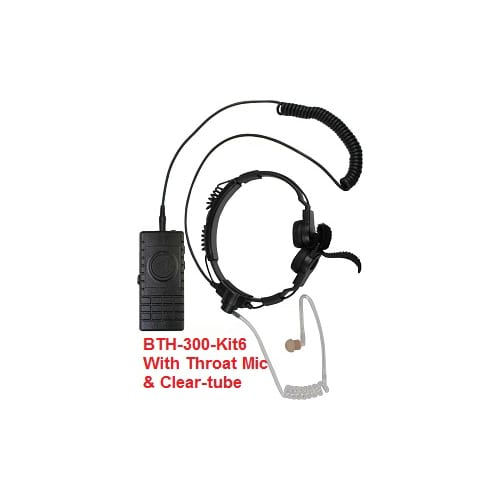 Bluetooth Throat microphone and acoustic tube earphone for Android and iOS.
