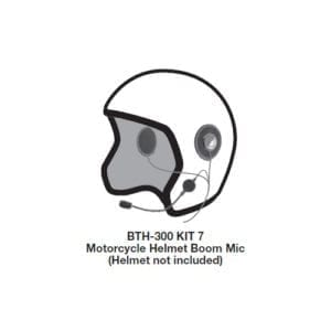 Bluetooth dual speaker motorcycle helmet kit (open face) for Android and iOS .