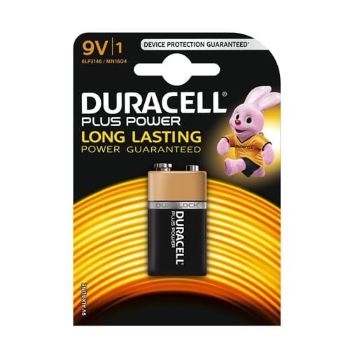 Duracell Alkaline MN1604PLUS 9V E- Block (1pack)