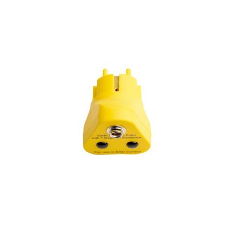 Killstat Aardingsstekker met 1x 10mm drukknop