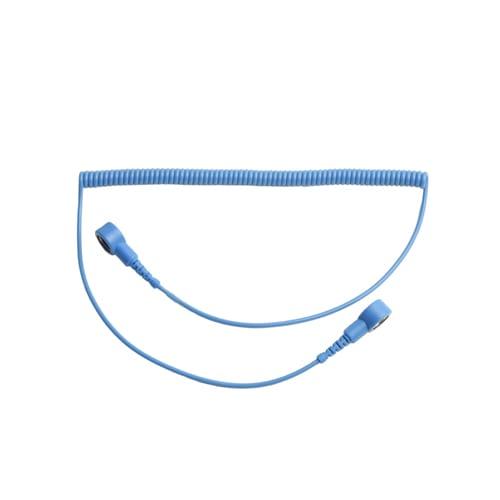 Killstat Spiraal Polsbandsnoer blauw 1.8m 10mm drukknop