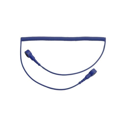 Killstat Spiraal Polsbandsnoer donkerblauw 1.8m 10mm drukknop
