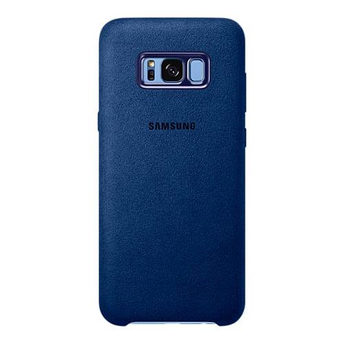 Samsung Alcantara Cover G955F Galaxy S8 plus blue
