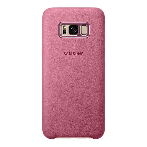 Samsung Alcantara Cover G955F Galaxy S8 plus pink
