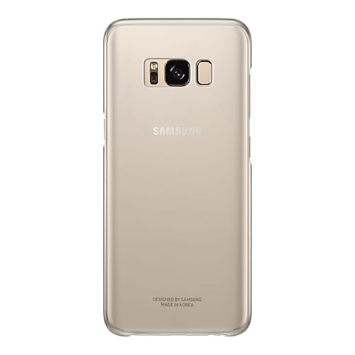 Samsung Clear Cover G955F Galaxy S8 plus gold