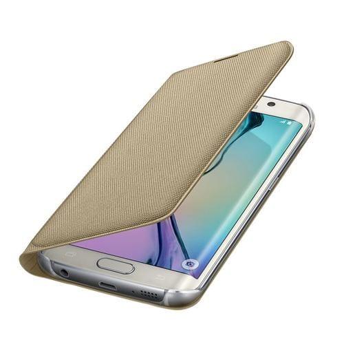 Samsung S6 Edge Flip Wallet Canvas Gold