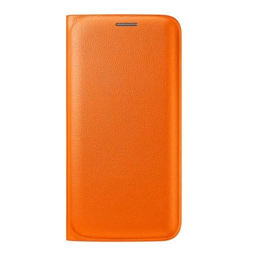 Samsung S6 Edge Flip Wallet Original Orange