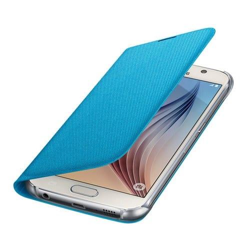 Samsung S6 Flip Wallet Canvas Blue