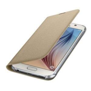 Samsung S6 Flip Wallet Canvas Gold