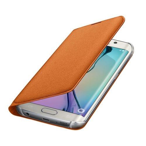 Samsung S6 Flip Wallet Canvas Orange