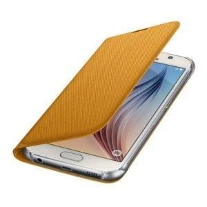 Samsung S6 Flip Wallet Canvas Yellow