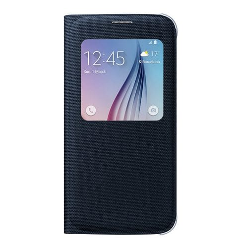 Samsung S6 S View Cover Canvas Black
