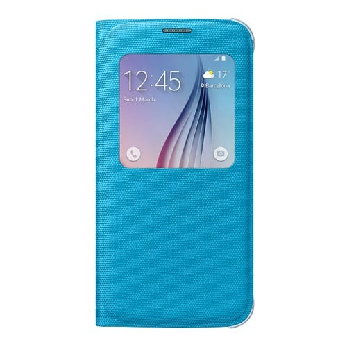 Samsung S6 S View Cover Canvas Blue