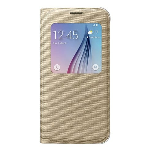 Samsung S6 S View Cover Canvas Gold