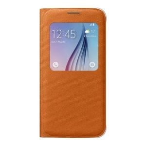 Samsung S6 S View Cover Canvas Orange