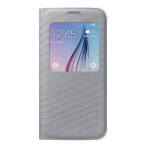 Samsung S6 S View Cover Canvas Silver