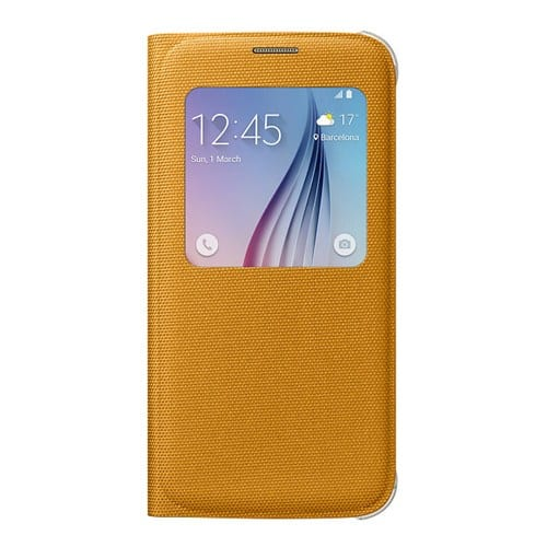 Samsung S6 S View Cover Canvas Yellow