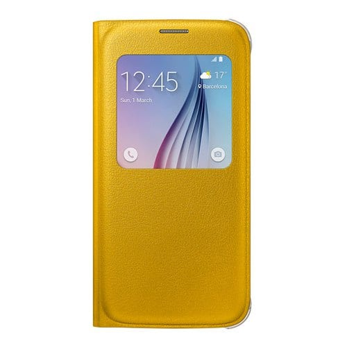 Samsung S6 S View Cover Original Yellow