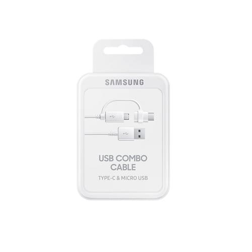 Samsung USB Combo Cable Type-C & Micro USB EP-DG930DWEGWW white