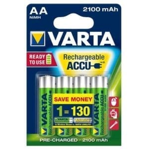 Varta AA 2100 mAh  rechargeable accu ready to use NiMH (4pack)