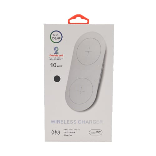 Wireless Double Charger Qi W7 black