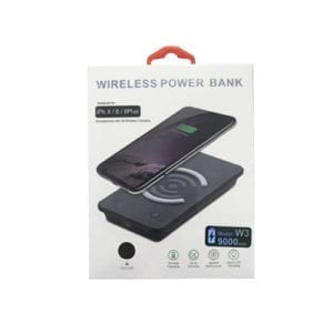Wireless Power Bank Qi Quick Charger W3 black