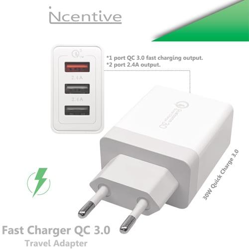 iNcentive Fast charger Qualcomm 3.0 220V White (VT-330)