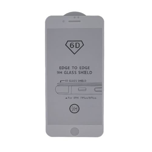 iNcentive Platina Glass iPhone 6 - 6S - 7 - 8 plus white edge to edge