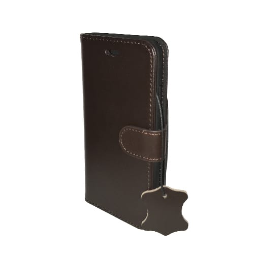 iNcentive Premium Leather Wallet Case Galaxy S8 dark brown