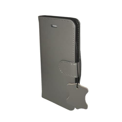 iNcentive Premium Leather Wallet Case Galaxy S8 plus gray