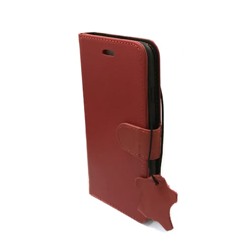 iNcentive Premium Leather Wallet Case Galaxy S8 red