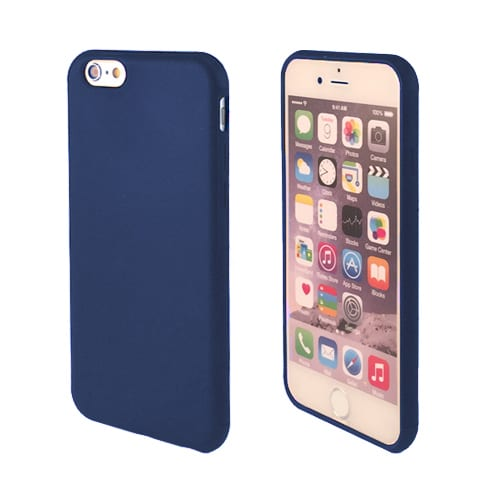 iNcentive Silicon case flat iPhone 5 - 5S - SE dark blue