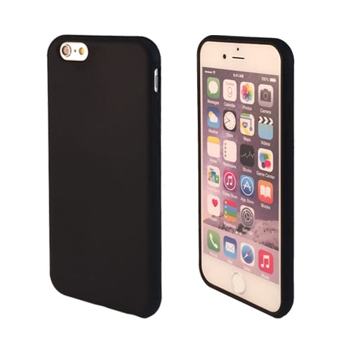 iNcentive Silicon case flat iPhone 6 - 6S black