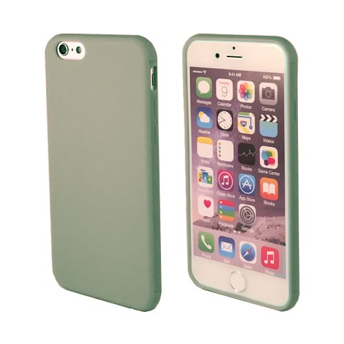iNcentive Silicon case flat iPhone 6 - 6S dark green