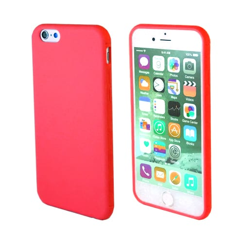 iNcentive Silicon case flat iPhone 6 - 6S red