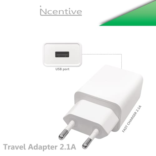 iNcentive Travel charger 2A 220V White (VT-202)