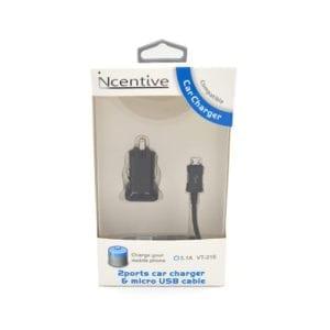 iNcentive Car charger 3.1A Micro USB (VT-215)