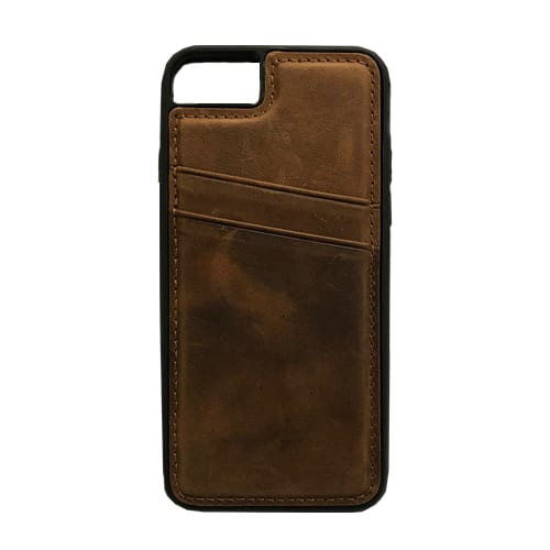 iNcentive Leather Card Slot Case Galaxy S8 plus light brown