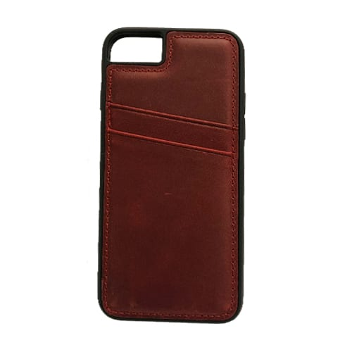 iNcentive Leather Card Slot Case Galaxy S8 plus red