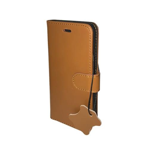 iNcentive Premium Leather Wallet Case Galaxy S7 edge cognac