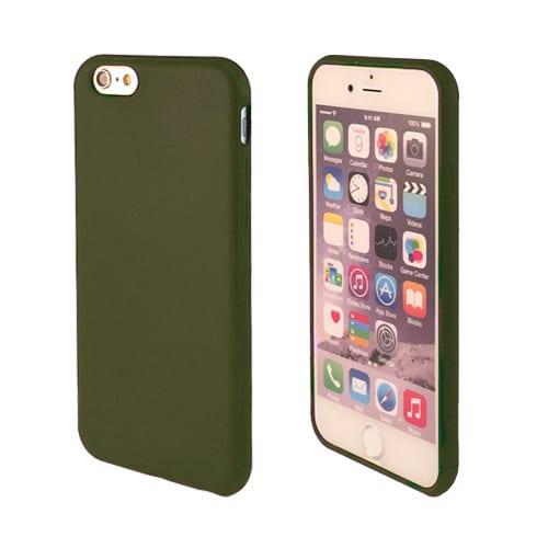 iNcentive Silicon case flat iPhone 11 dark green
